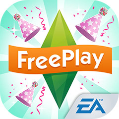 『The Sims フリープレイ』アプリアイコン(キッズパーティー・アップデート)©Electronic Arts Inc.