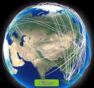 アジア〜ヨーロッパ側の旅客路線1(エアタイクーンオンライン2)