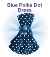 Blue Polka Dot Dress (Campus Life)