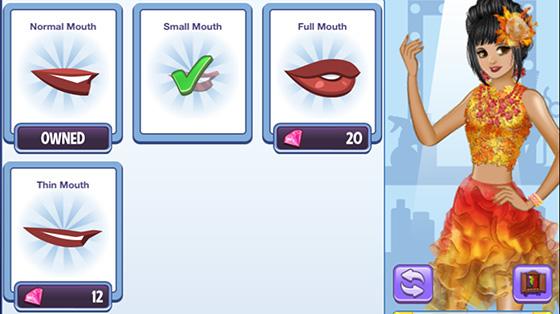 口の形を選択する画面(Campus Life)