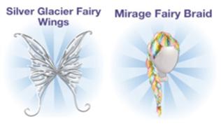 Silver Glacier Fairy Wings, Mirage Fairy Braid (Campus Life)