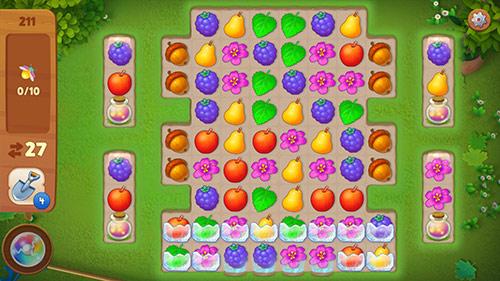 マッチ3パズル・レベル211〈ガーデンスケイプ(Gardenscapes)〉