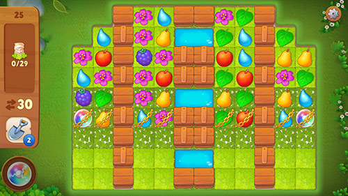 マッチ3パズル・レベル25〈ガーデンスケイプ(Gardenscapes)〉
