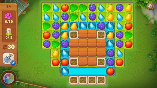 マッチ3パズル・レベル54〈ガーデンスケイプ(Gardenscapes)〉