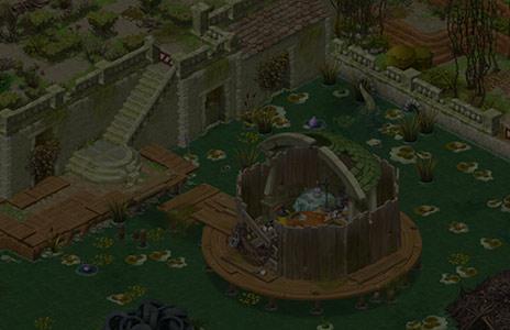 未解除エリアにある庭の池〈ガーデンスケイプ(Gardenscapes)〉