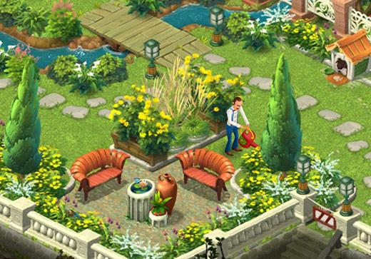 花や木を植えて賑やかになった庭〈ガーデンスケイプ(Gardenscapes)〉