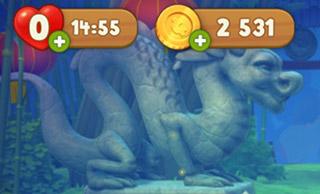 2531まで貯まったコイン:ガーデンスケイプ(Gardenscapes)