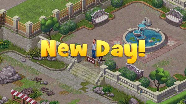 1日の始まり「New Day!」:ガーデンスケイプ(Gardenscapes)