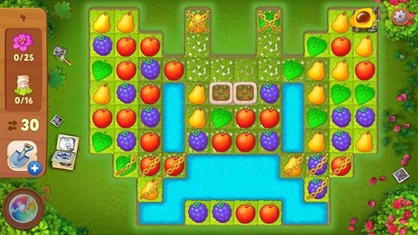 春の物語イベント、蝶形のマッチ3パズル:ガーデンスケイプ(Gardenscapes)