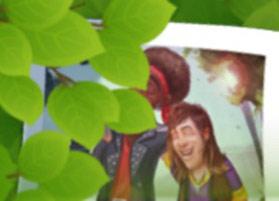 青春を謳歌する若いロビーとオースティンの写る写真:ガーデンスケイプ(Gardenscapes)