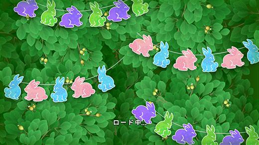 イースターイベント、うさぎ飾りのロード画面:ガーデンスケイプ(Gardenscapes)
