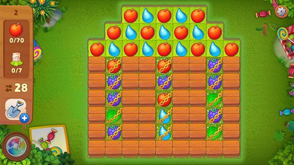 イースターイベント、カップケーキかマフィンの形に見えるマッチ3パズル:ガーデンスケイプ(Gardenscapes)