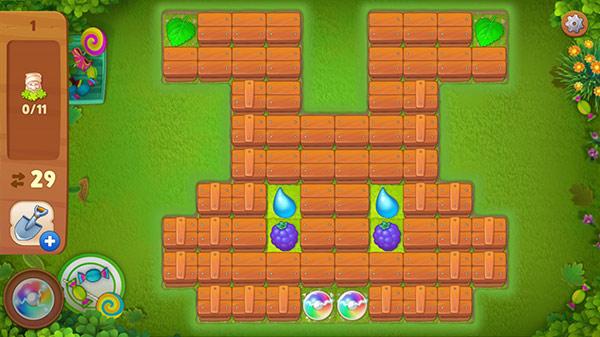 イースターイベント、うさぎの顔形のマッチ3パズル:ガーデンスケイプ(Gardenscapes)