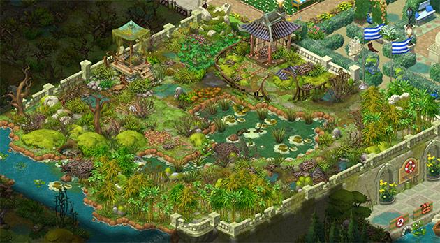 アンロックしたてのエリア8の庭。荒れ放題:ガーデンスケイプ(Gardenscapes)
