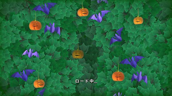 ハロウィンイベント中のパズルのロード画面:ガーデンスケイプ(Gardenscapes)