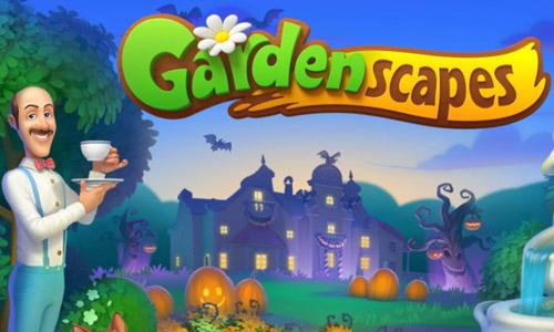 ハロウィンのスタート画面:ガーデンスケイプ(Gardenscapes)