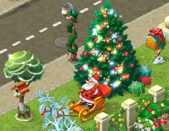 クリスマスコレクション「サンタのそり」「冬の手紙」「祭りの細道」「ふわふわの明かり」、特別賞「クリスマスツリー」:ガーデンスケイプ(Gardenscapes)