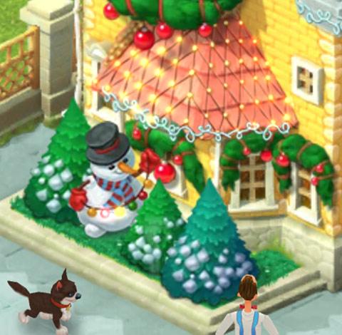 クリスマスコレクション「陽気な雪だるま」:ガーデンスケイプ(Gardenscapes)