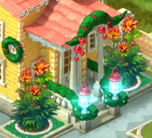 クリスマスコレクション「キラキラの明かり」バックドア:ガーデンスケイプ(Gardenscapes)