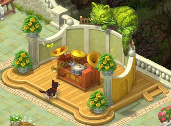 猫のトピアリー:ガーデンスケイプ(Gardenscapes)