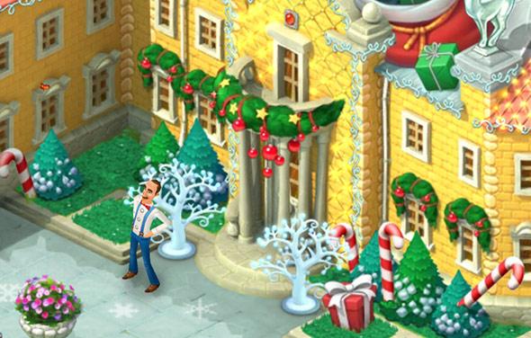 クリスマスコレクション「プレゼントの袋」正面玄関:ガーデンスケイプ(Gardenscapes)
