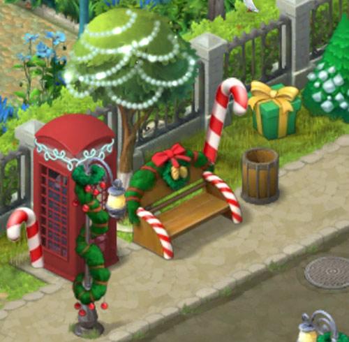 クリスマスコレクション「ジンジャーブレッドのベンチ」「ふわふわの明かり」「祭りの細道」:ガーデンスケイプ(Gardenscapes)