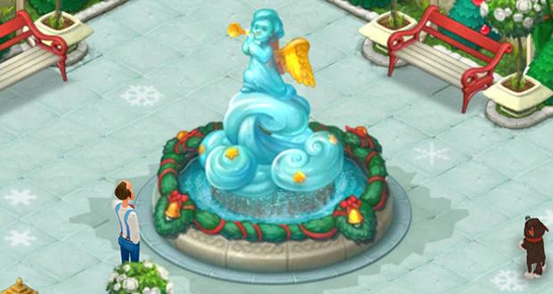 クリスマスコレクション「天使の噴水」「噴水のタイル」:ガーデンスケイプ(Gardenscapes)
