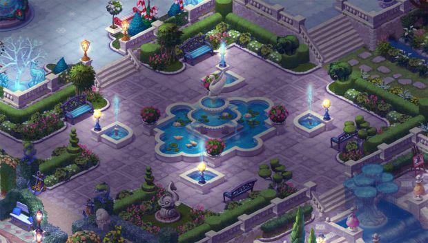 完成したエリア3の庭・夜景:ガーデンスケイプ (Gardenscapes)