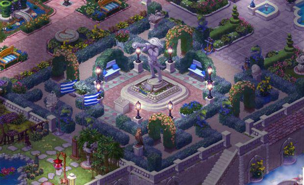 完成したエリア5の庭・夜景:ガーデンスケイプ (Gardenscapes)