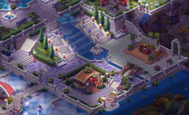 完成したエリア7の庭・夜景:ガーデンスケイプ (Gardenscapes)