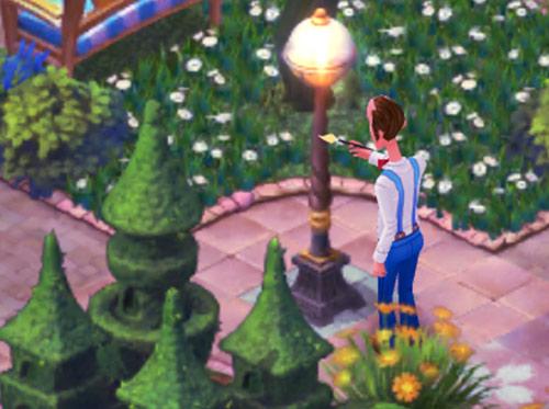 街灯を手入れするオースティン:ガーデンスケイプ (Gardenscapes)