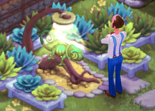 カメレオンのヒュー:ガーデンスケイプ (Gardenscapes)