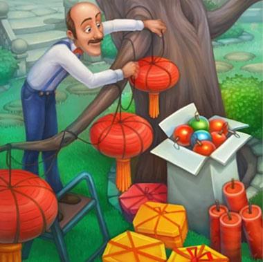 中国の旧正月の飾り付けをするオースティン:ガーデンスケイプ (Gardenscapes)