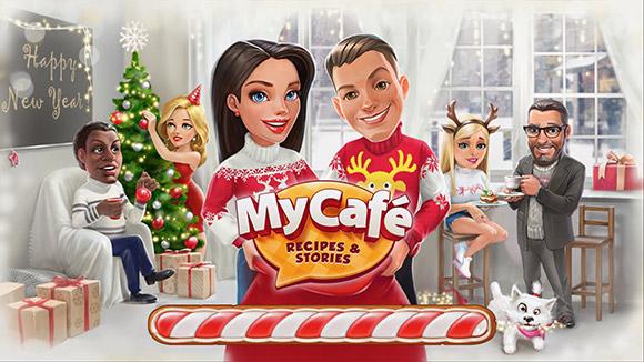 ホリデイシーズンのタイトル画面(My Cafe: Recipes & Stories)