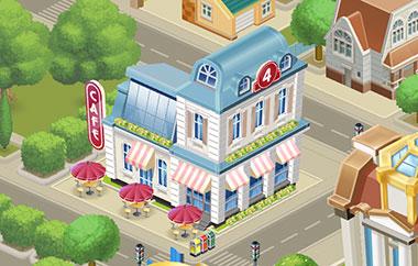 町の建物、プロヴァンス レベル4(マイカフェ:レシピ&ストーリー)