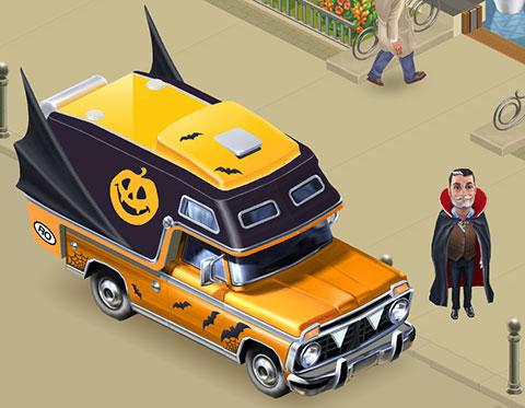 ディエゴと車、ハロウィンスタイル(マイカフェ:レシピ&ストーリー)