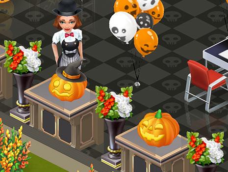 愉快なかぼちゃ、帽子をかぶったかぼちゃ、花瓶「オックスフォード」(マイカフェ:レシピ&ストーリー)