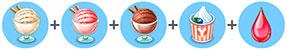 レインボーアイスクリーム(マイカフェ:レシピ&ストーリー)