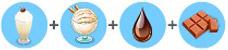チョコミルクシェイク(マイカフェ:レシピ&ストーリー)