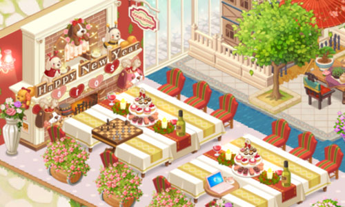 戌年パーティー席(どきどきレストラン)