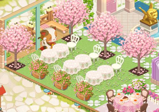 桜が満開のお花見席(どきどきレストラン)