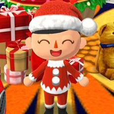 サンタクロース姿のプレイヤーキャラクタ(どうぶつの森 ポケットキャンプ)