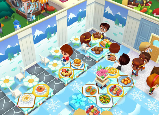冬景色のオープンカフェ(レストランストーリー2)