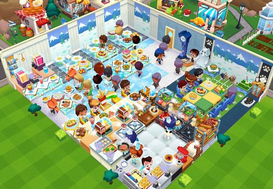 冬景色のオープンカフェ全体図(レストランストーリー2)
