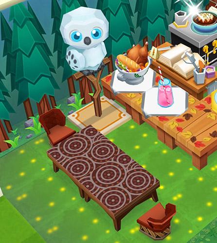 森の奥、フクロウが見守るティーテーブル(レストランストーリー2)
