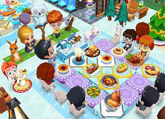 雪と氷のマジックショーが観れる、ご馳走いっぱいパーティー席(レストランストーリー2)