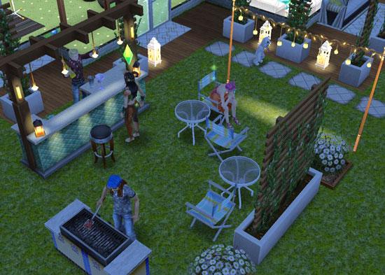 夜のガーデンパーティ(The Sims フリープレイ)