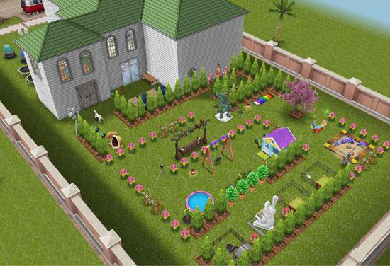 イースタートピアリーだらけの巨大迷路の家(The Sims フリープレイ)