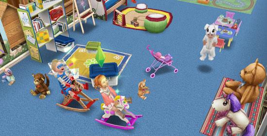 イースターバニーっ子と子どもたち(The Sims フリープレイ)