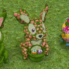 イースターバニーのトピアリー(The Sims フリープレイ)